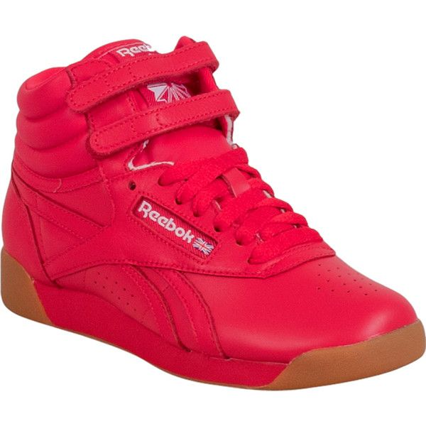 reebok high tops. reebok freestyle hi fitness women\u0027s high-top sneaker f ($75) ❤ liked high tops