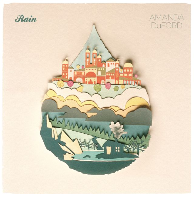 Gorgeous! Album cover with color paper art, #design #paper #color