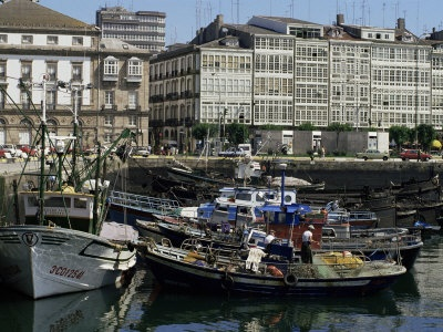 La Dársena en La Coruña, Galicia, España, Spain
