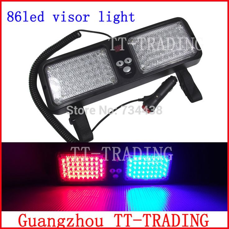 ==> [Free Shipping] Buy Best Wholesale Super Bright 86 LED Car Truck Visor Strobe Lights vehicle emergency lights police light DC12V white red blue amber Online with LOWEST Price | 778315431