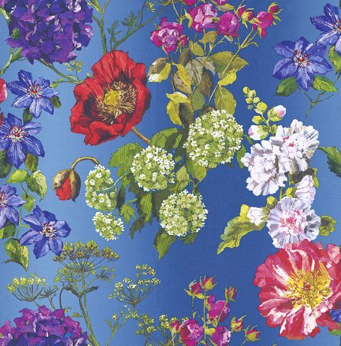 Alexandria Lapis wallpaper by Designers Guild