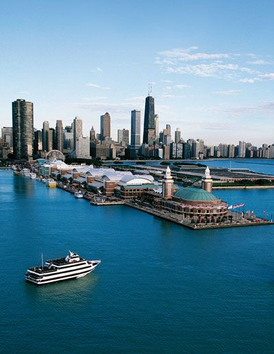 I love Navy Pier in Chicago.   So much to do and the lake looks like an ocean.  Gotta love it!
