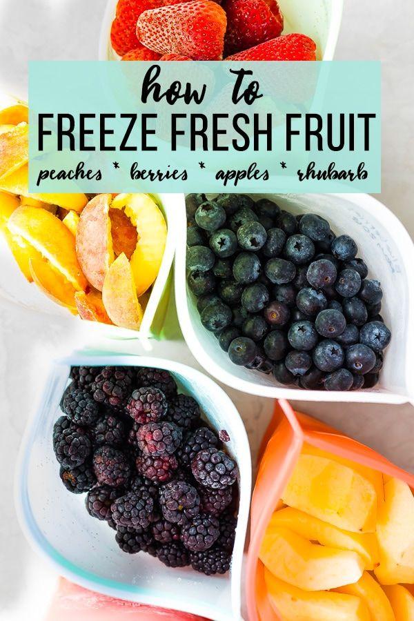 Fruit Freezing Guide How To Freeze Fresh Fruit Frozen Fresh Food Saver Fruit Recipes