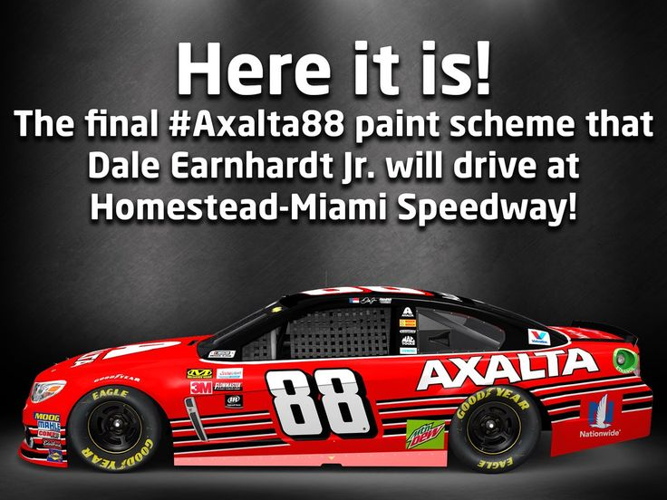 The final #Axalta88 paint scheme @DaleJr will drive. What do you think??