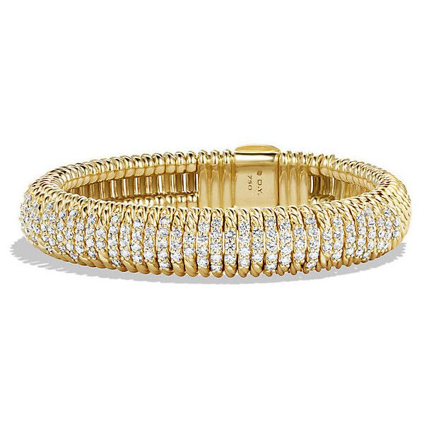 david yurman bracelet with diamonds in 18k gold 12mm cad liked