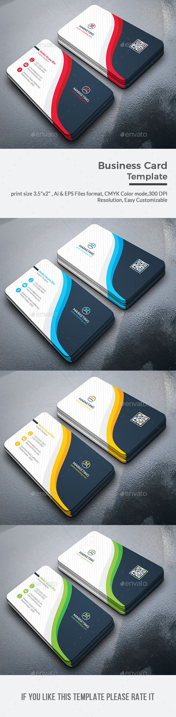 163 best business card print templates images on pinterest business card wajeb Image collections