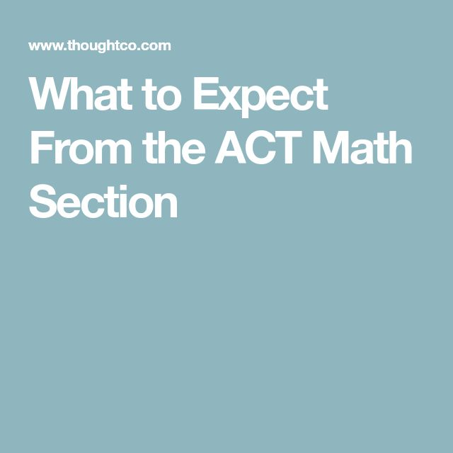 What to Expect From the ACT Math Section