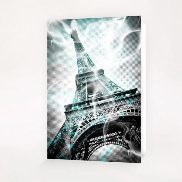 Digital-Art EIFFEL TOWER PARIS Greeting Card & Postcard by Melanie Viola