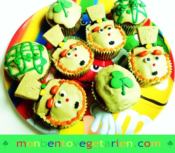 saint paddy's day cupcakes   #saintpatrick