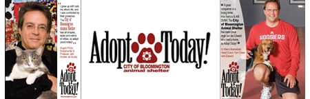 Adopt Today! animal shelter adoption campaign featuring Angelo Pizzo and Tom Crean