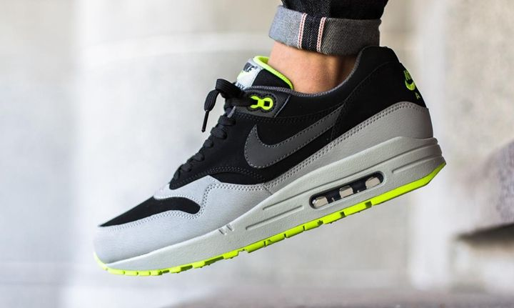 Nike Air Max 1 Hyperfuse Grey White Volt Shoes