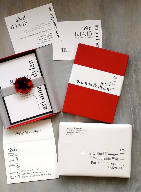 $725 (50) $1,080 (75) $1,430 (100) Boxed Wedding Invitation Modern Wedding Invitation by BeaconLane