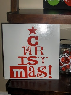 Stikmup Designs - Vinyl lettering & More!: A collection of some Christmas Vinyl Lettering Projects - Cabinet Doors, Tiles, Charger Plates and Subway Art!
