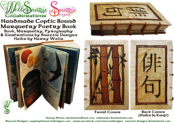 Handmade Coptic Bound Haiku Book by snazzie-designz on DeviantArt