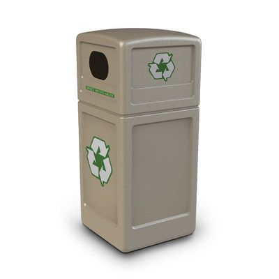 Commercial Zone Green Zone 38-Gal Industrial Recycling Bin & Reviews | Wayfair Supply