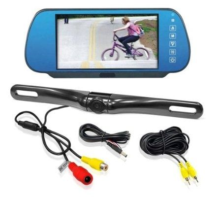 Pyle PLCM7800 Vehicle Backup Camera & Mirror Monitor Parking/Reverse Kit, License Plate Mount Waterproof Night Vision Angle Adjustable Cam, 7'' Display Built-into Mirror Assembly - For Sale Check more at http://shipperscentral.com/wp/product/pyle-plcm7800-vehicle-backup-camera-mirror-monitor-parkingreverse-kit-license-plate-mount-waterproof-night-vision-angle-adjustable-cam-7-display-built-into-mirror-assembly-for-sale/