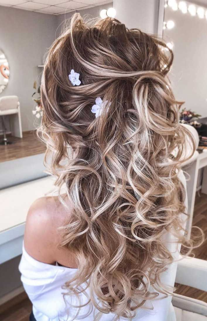 Something that every bride wonders is, How should I wear my hair for my wedding? You want a style that looks fresh and a bit confused on what hairstyle you should go for on your wedding day, then fret no more, We have here some lovely wedding hairstyles for those brides who're getting married in a...