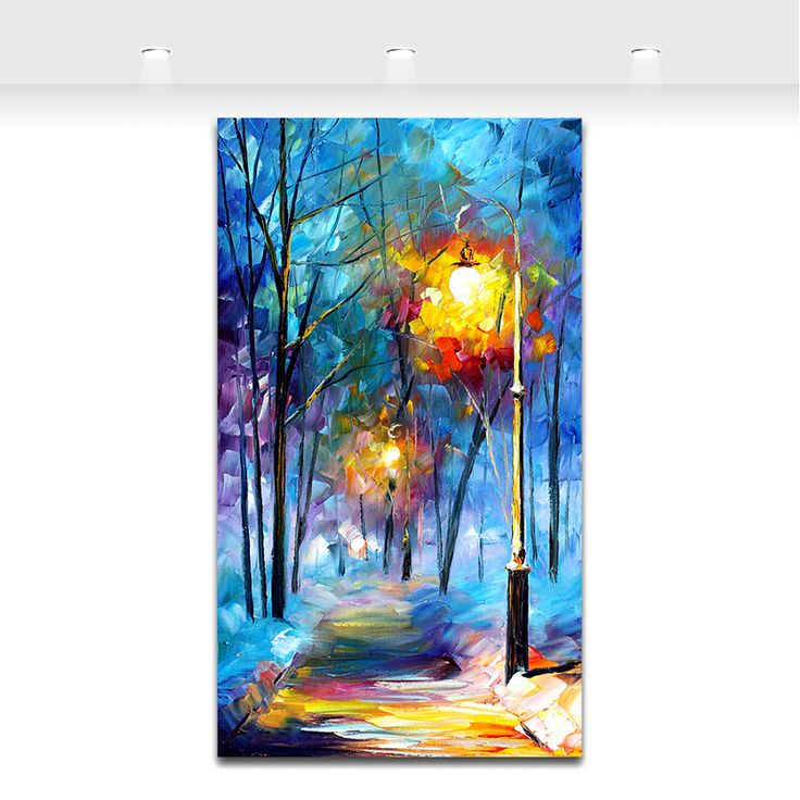 Paletmes Schilderen Night Landschap Winter Landschap Schilderijen Straat Licht Moderne Woninginrichting Muur Canvas Prints in Paletmes Schilderen Night Landschap Winter Landschap Schilderijen Straat Licht Moderne Woninginrichting Muur Canvas Prints van Schilderen & Kalligrafie op AliExpress.com | Alibaba Groep