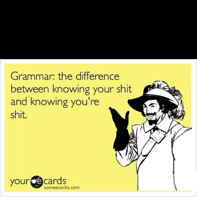 I love this!  LOL!!  I hate it when people use your instead of you're.  It just gives it a whole new meaning!