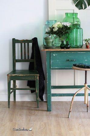 Vintage Stuhl, Küchenstuhl, antiker Stuhl, Landhausmöbel, Landhausstil, Shabby Chic