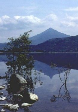 Schiehallion 'the Fairy Hill' with Loch Rannoch in the foreground. Walked up this.....easy and what a view