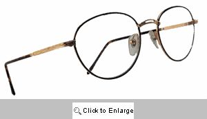 Honor Student Round Metal Frame Clear Lens Glasses - 384