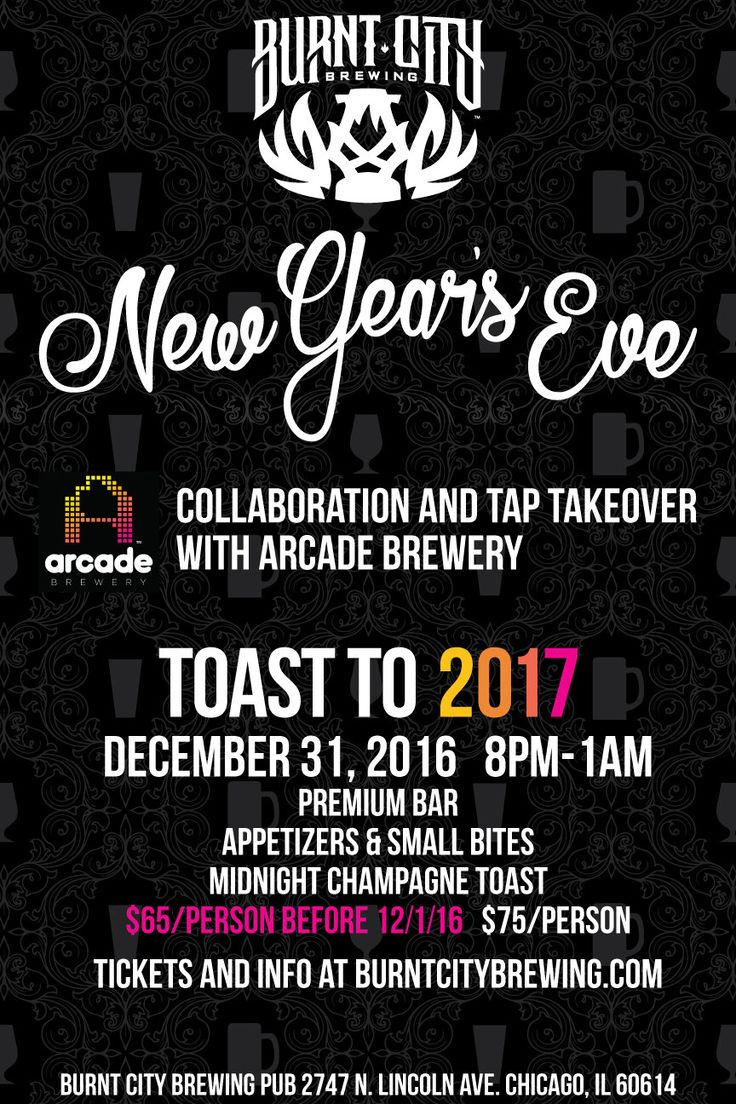 New Year's Eve 2017, Chicago Events, Graphic Design, New