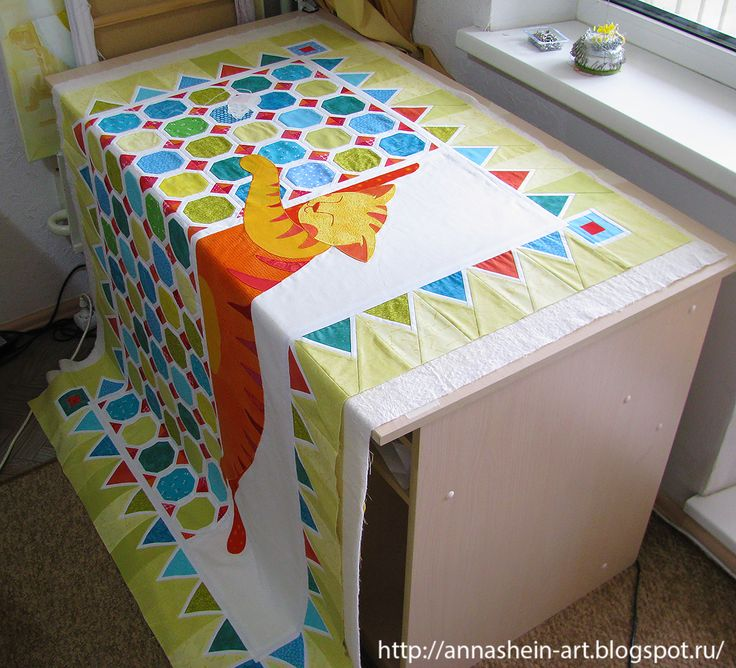 Anna Shein•ART Лоскутное шитье: Как просто собрать сэндвич для стежки большого одеяла? Мастер-класс.