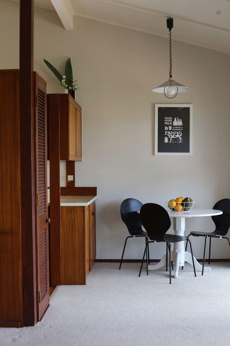 #retro #apartment #dining #artprint #milk @endemicworld  #black&whiteinterior #styling by #placesandgraces