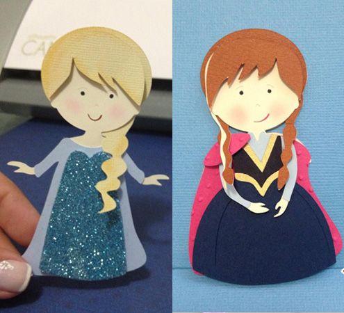 Free Studio file from Silhouette Brasil 3D DIY FROZEN » Shape 65: Anna e Elsa Cute - Silhouette Brasil