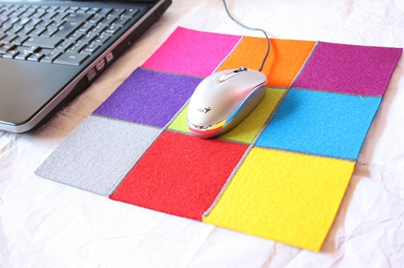 Squares mousepad by TheWoolWorld on Etsy, €16.50