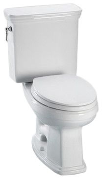 Toto CST424EFG#01 White Eco Promenade Toilet, Elongated Bowl 1.28 GPF, SanaGloss - Transitional - Toilets - PlumbersStock
