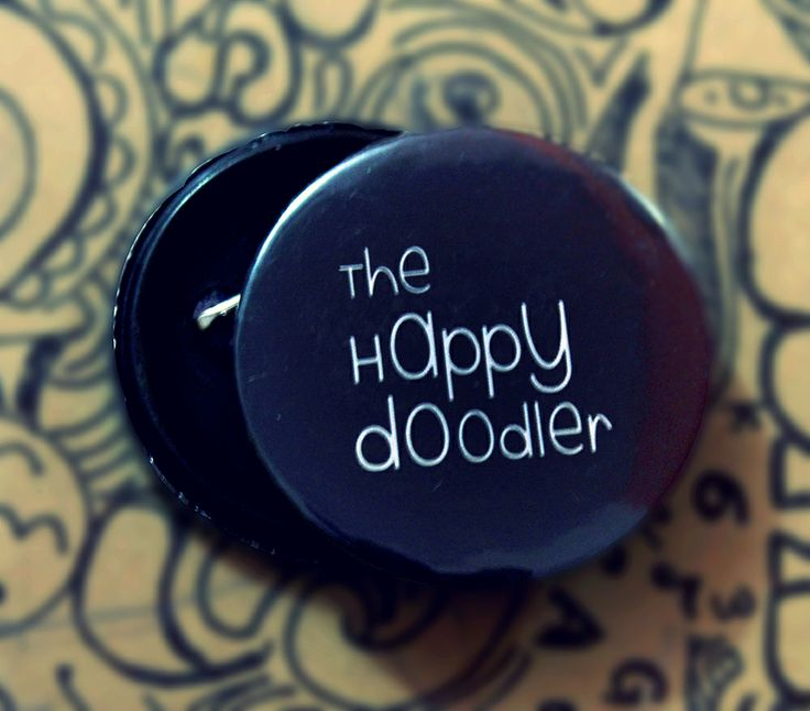 The official THE HAPPY DOODLER Badge!  :D