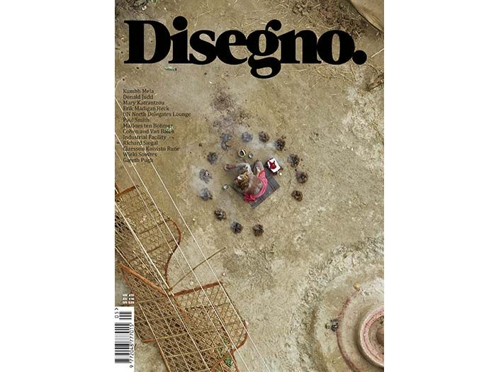 Disegno AW13/14.  The front cover features striking imagery by British photographer Giles Price.