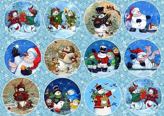 Paper Decoupage Paper A4 NY-090 Christmas ART paper