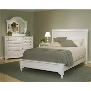 Cottage King Sleigh Bed W/ Low Footboard By Vaughan Bassett   Miskelly  Furniture   Headboard U0026 Footboard Jackson, Mississippi