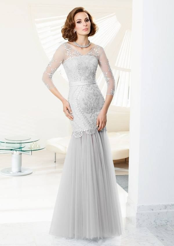 Style EZYON Beaded Tulle  Dress Colors Available: Silver, Black, Taupe. Sizes Available: 2-26*  *Please refer to the VM size chart.