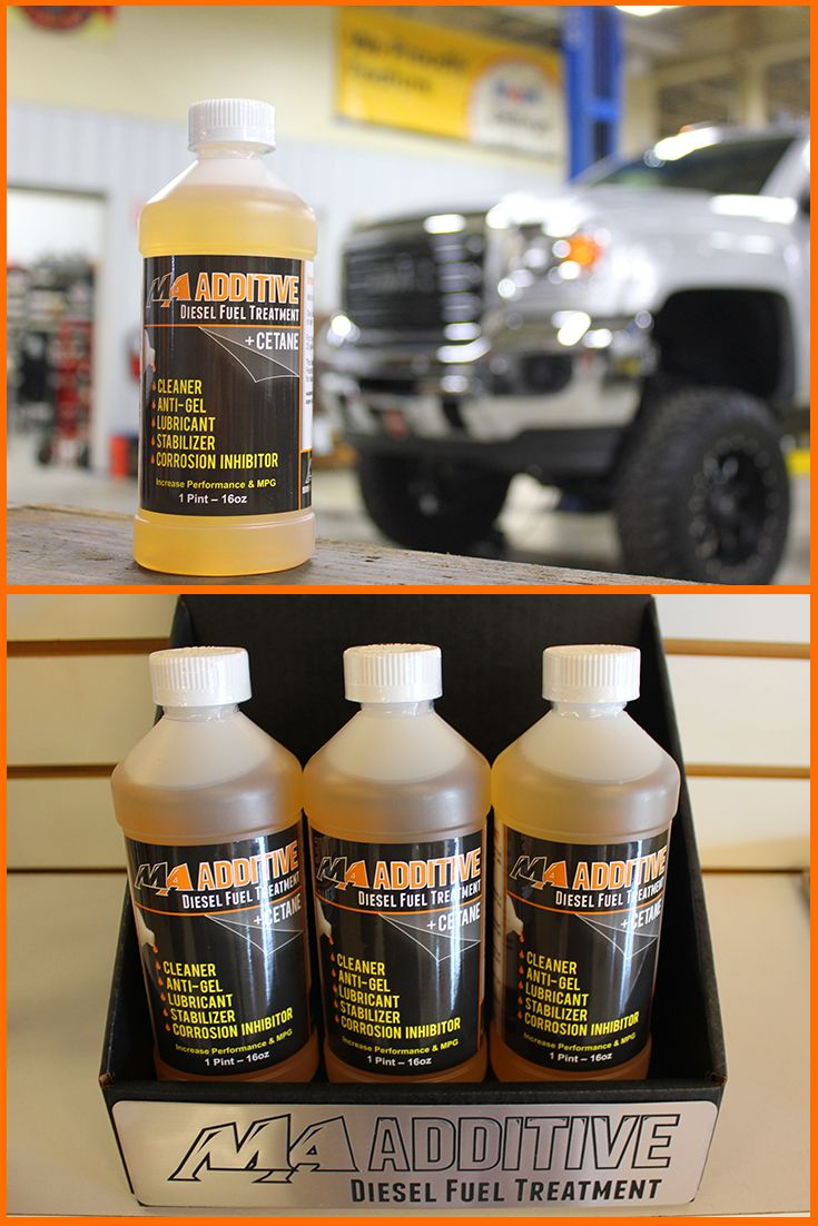 MA Additive: A multi-benefit fuel additive that helps resolve issues associated with Ultra-Low Sulphur Diesel (ULSD) fuel.     Increases Cetane 2 to 3 points to deliver a more complete burn and maximize the efficiency of the engine. Faster starts, smoother running, increased power, higher BTUs, and improved fuel economy. Cleaning agents to clean and protect fuel delivery system, tanks, lines, injectors, and valves. Lubrication for engine components for reduced friction and extended life.