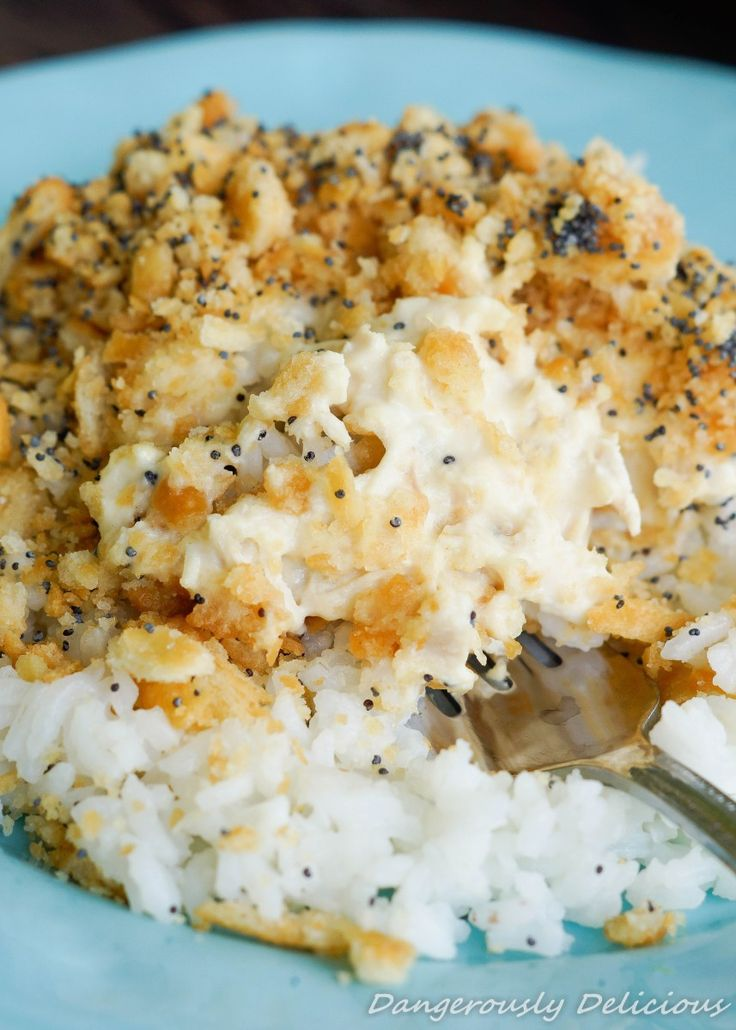 Creamy Poppyseed Chicken & Rice