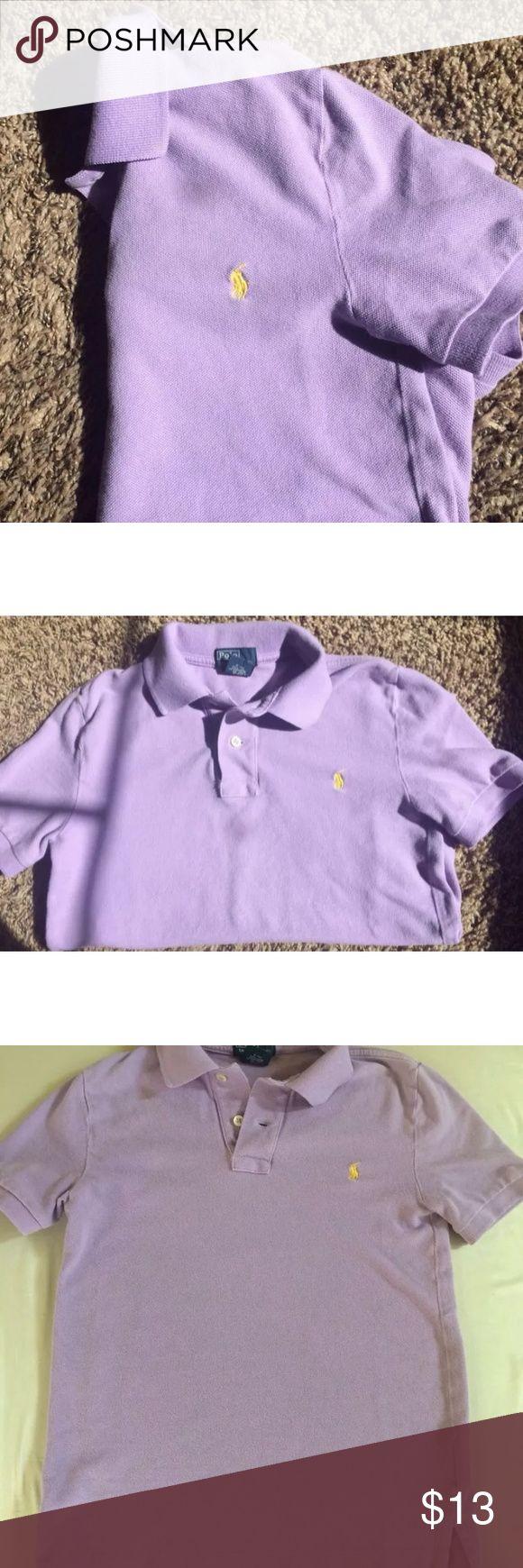 Boys Ralph Laure short sleeve polo Boys Ralph Lauren purple short sleeve polo size 8in good condition. Ralph Lauren Shirts & Tops Polos