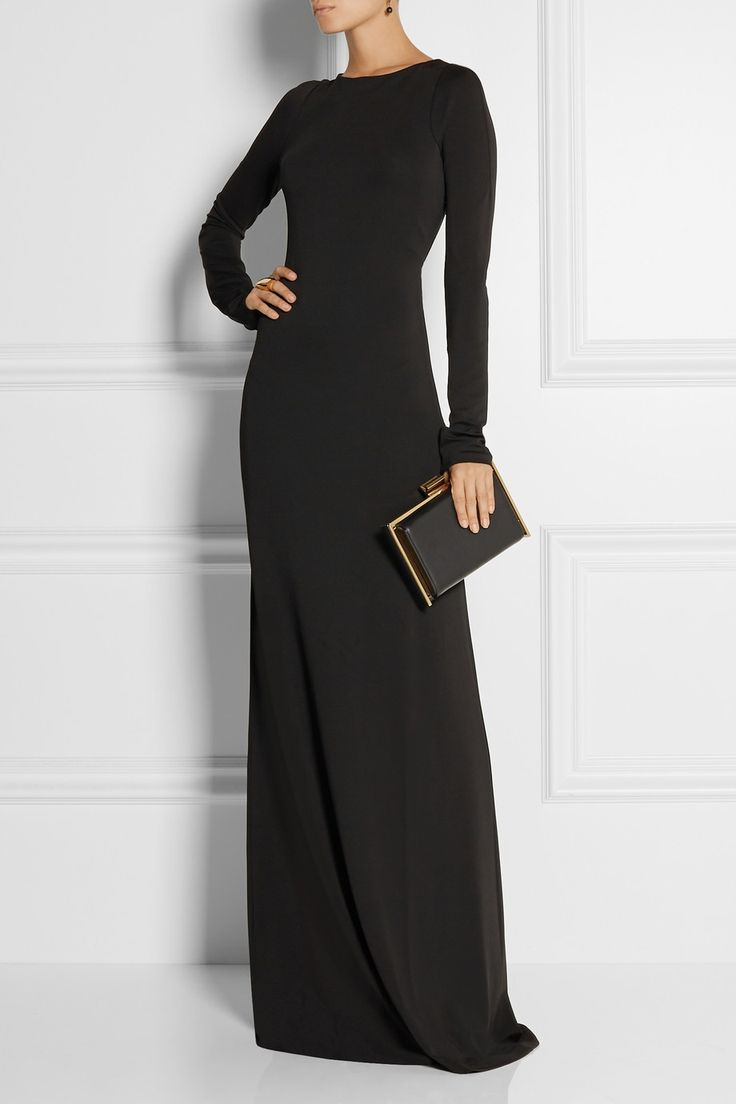 Calvin Klein Collection|Phebe open-back stretch-jersey gown