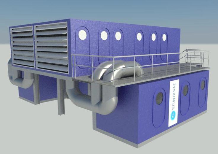 SKYH2O MAXIMUS Generador de Agua atmosférica 50.000 litros de agua por día. Diseño: Ziegler, Diciembre el año 2016