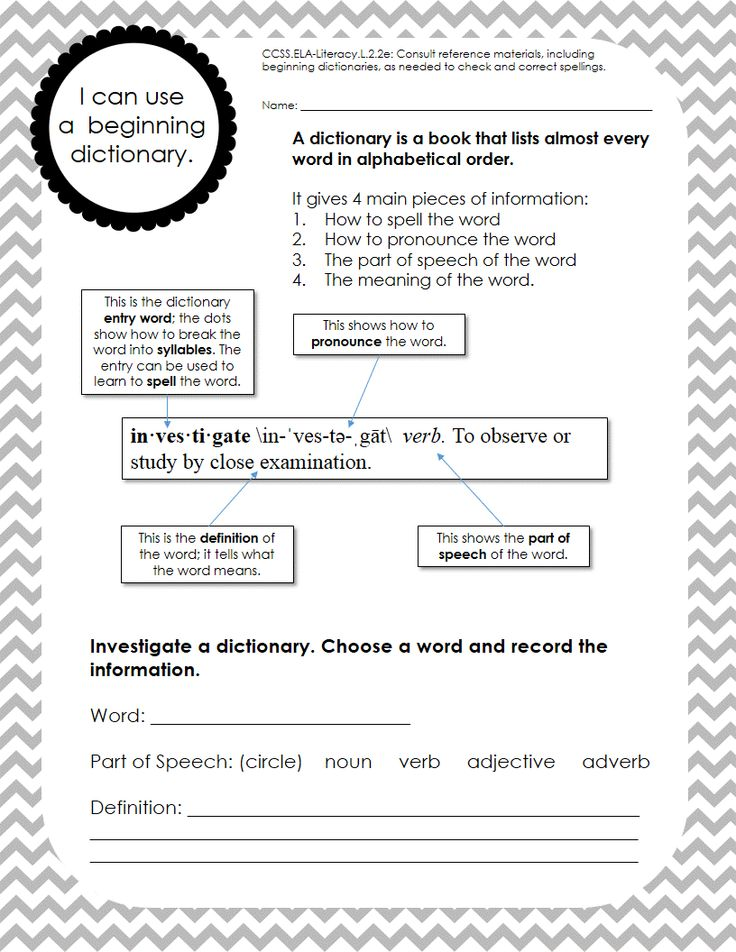 Dictionary practice worksheets pdf