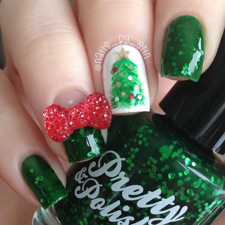 305 mejores imágenes de Christmas Nails en Pinterest | Uñas de ...