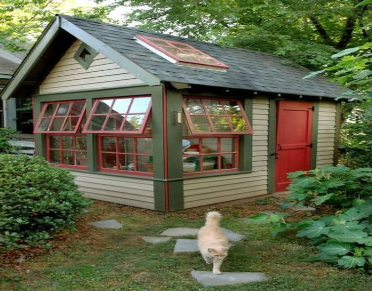 1000 images about garden sheds potting flowers on for Unique garden sheds designs