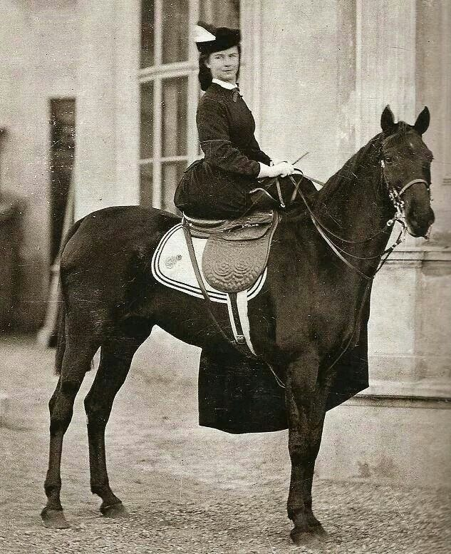 Empress Elisabeth of Austria in her riding habit.