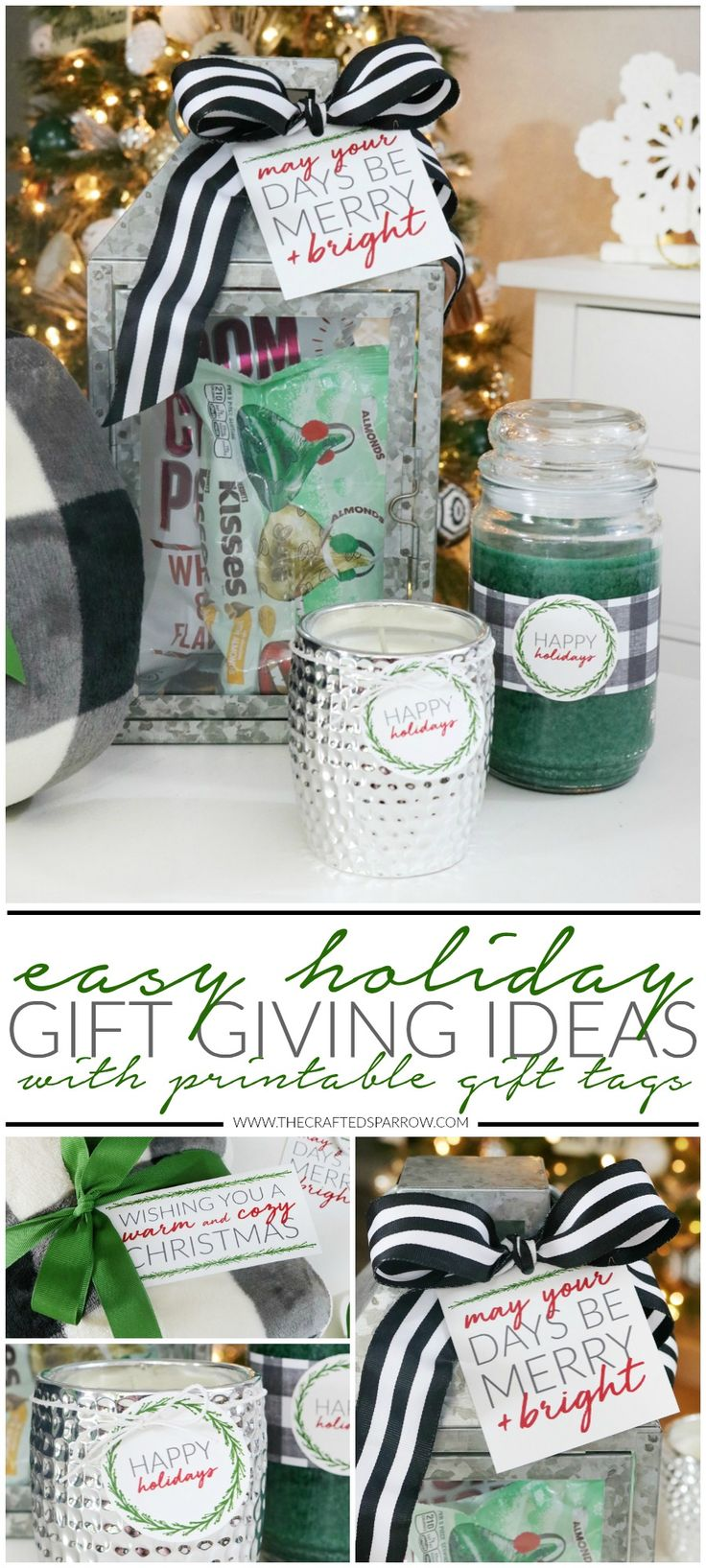 Easy Holiday Gift Giving Ideas with Printable Tags  |  #BHGLiveBetter #ad #Christmas #Printables #GiftIdeas