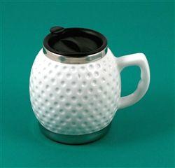 Ceramic/Stainless Steel Golf Mug with Handle