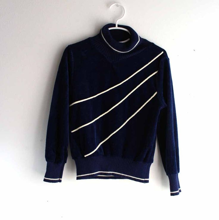 SALE vintage girls blue velour pullover top sweater - sweatshirt 1970s / 1980s fall clothing for kids size 10 by aorta on Etsy https://www.etsy.com/listing/163142947/sale-vintage-girls-blue-velour-pullover