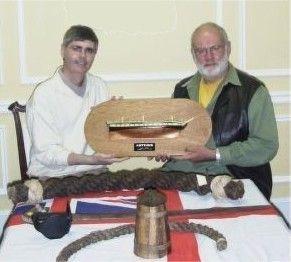 "Robert Squarebriggs made a splendid half-model of ""Artemis"", which he presented to me in Halifax, Nova Scotia, Canada."
